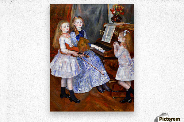 The daughters of Catulle Mendes  Metal print