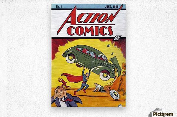 Action Comics  Metal print
