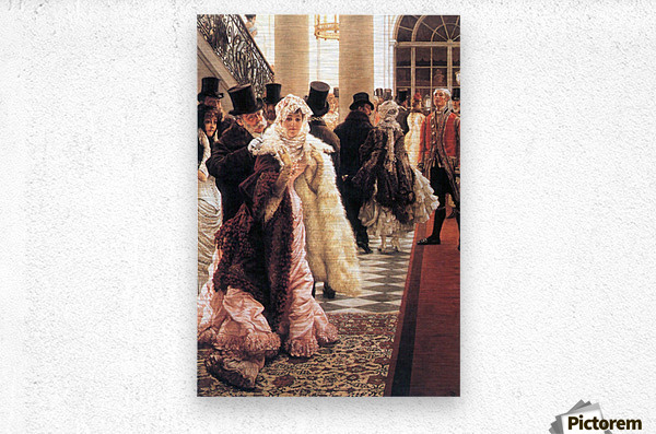 The fashionable woman by Tissot  Metal print