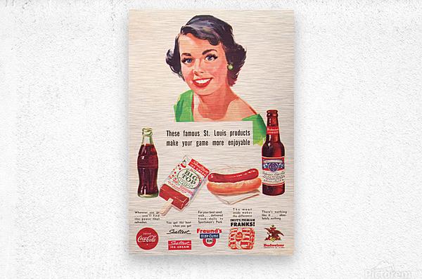 Vintage St. Louis Sportsman Park Concessions Ad  Metal print