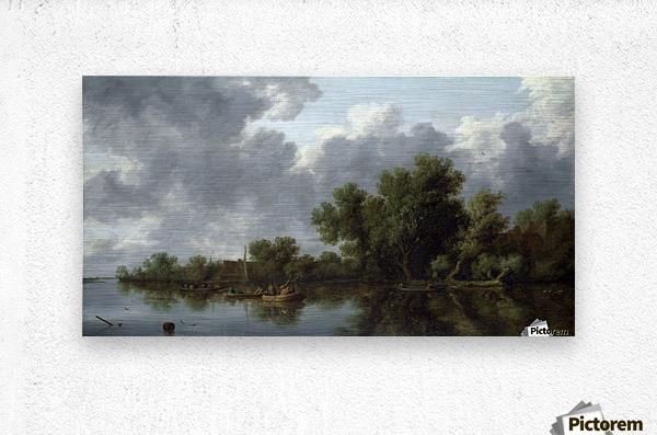 River Scene  Metal print