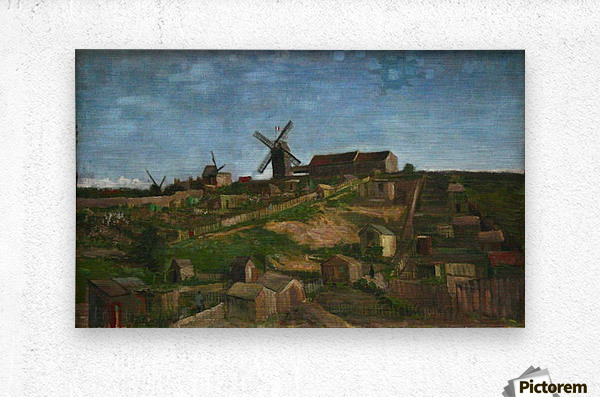 The hill of Monmartre by Van Gogh  Metal print