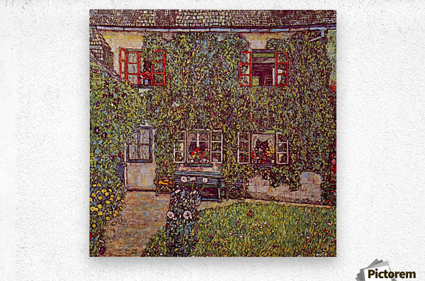The House of Guard by Klimt  Metal print