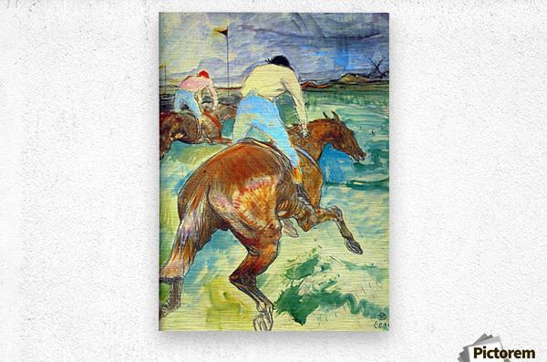 The Jockey by Lautrec 1899  Metal print