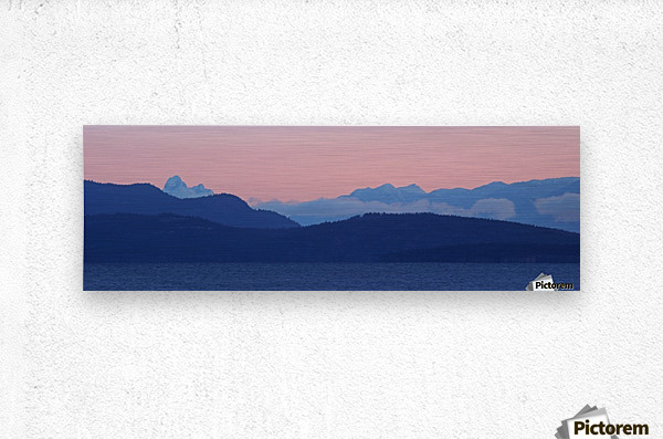 Pink And Blue by Randy Hall  Metal print