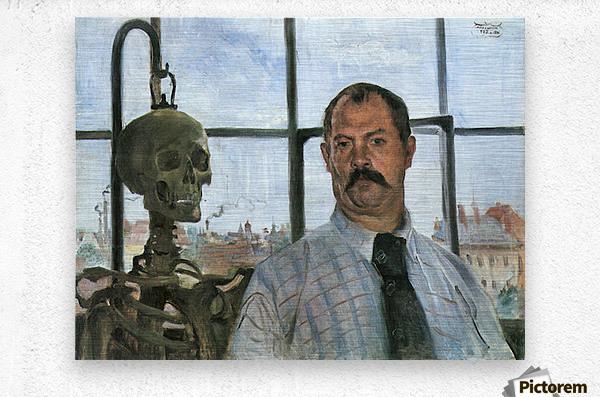 Self Portrait with Skeleton by Lovis Corinth  Metal print