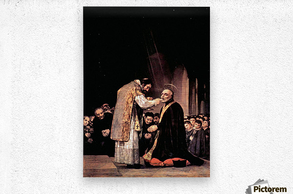 The last communion of St. Joseph of Calasanza by Goya  Metal print