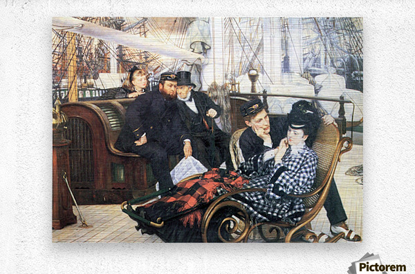 The last evening by Tissot  Metal print
