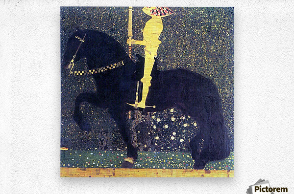 The life of a struggle (The Golden Knights) by Klimt  Metal print