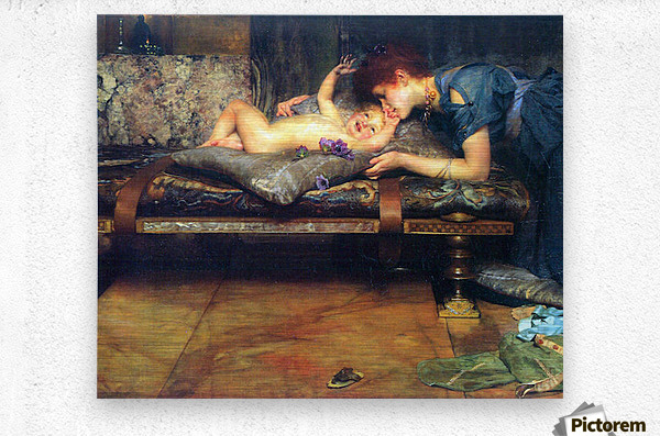A paradise on earth, detail by Alma-Tadema  Metal print