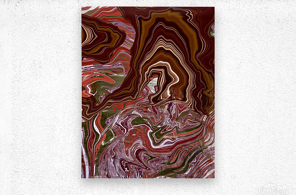 Ribbon candy and the  chocolate fountain   Metal print