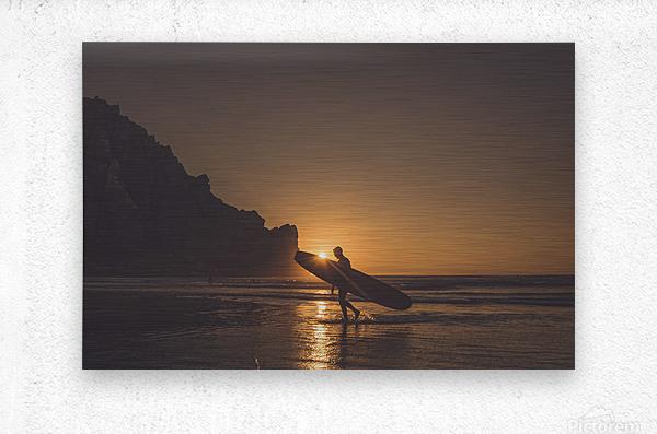 Morro Bay Surfer  Metal print