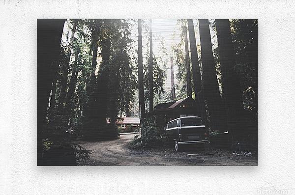 Big Sur Camping  Metal print