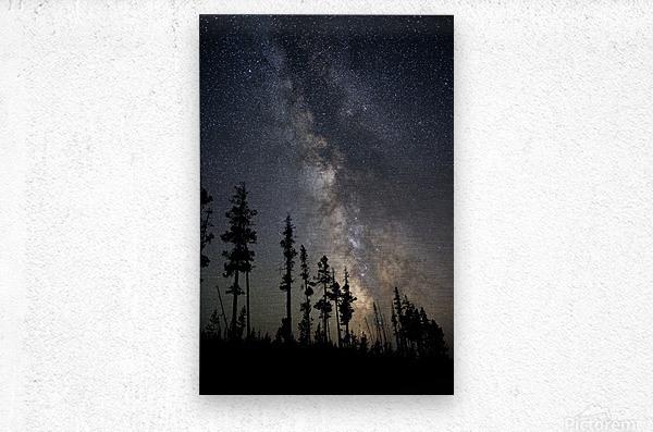 Yellowstone Milky Way  Metal print