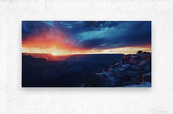 The Grandest Sunset  Metal print