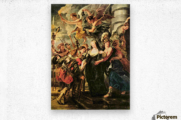 The Medici s queen escapes from Blois by Rubens  Metal print