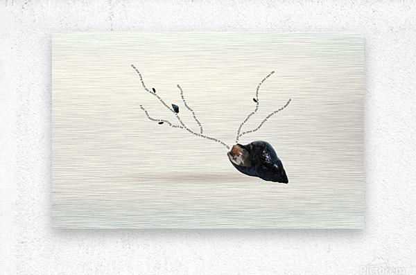 Cerebration  Metal print