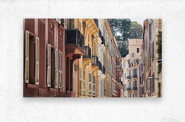 Monaco Street  Metal print