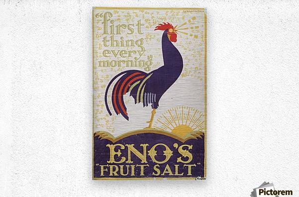 Enos fruit salt  Metal print
