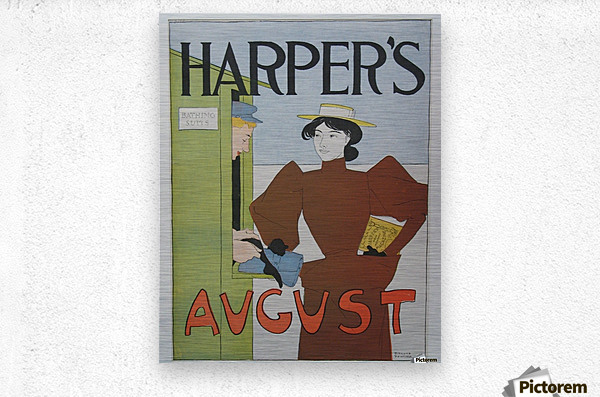 Harper's August Bathing  Metal print