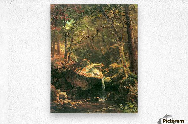 The Mountain by Bierstadt  Metal print