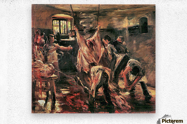 Slaughterhouse by Lovis Corinth  Metal print