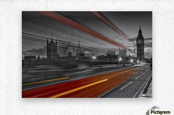 LONDON Red Bus  Metal print