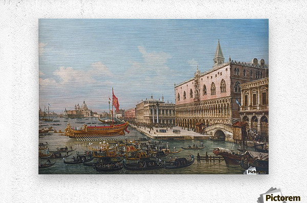 The Departure of the Bucintoro from San Marco to San Nicolo Del Lid  Metal print