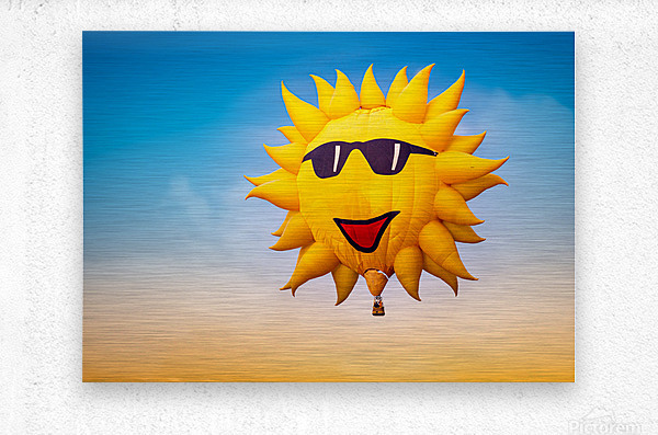 Forecast Clear and Sunny  Metal print