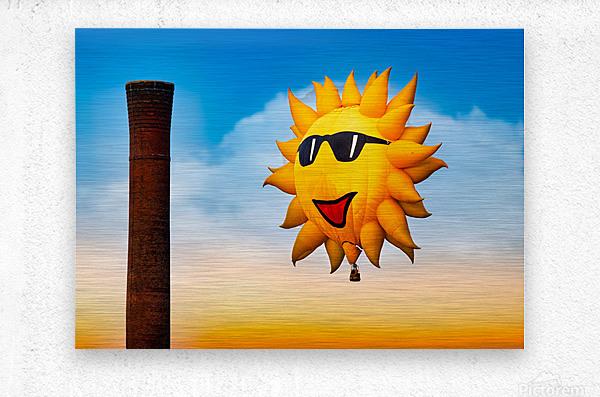 Sunny and the Smokestack  Metal print