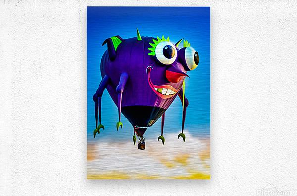 Flying Purple People Eater  Metal print
