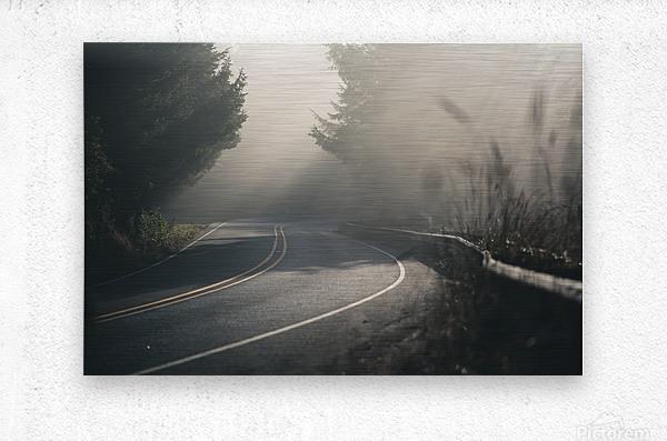 Pacific Coast Highway Mist  Metal print