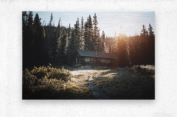 Rocky Mountain Cabin  Metal print