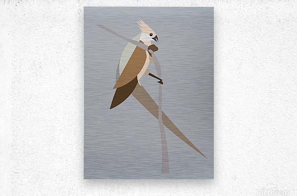 Blue-Naped Mouse Bird  Metal print