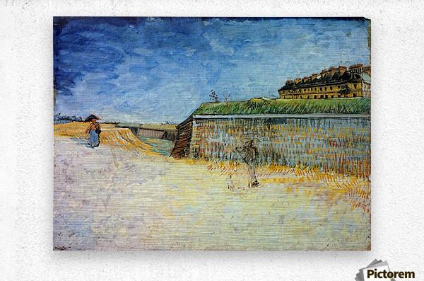 The Ramparts of Paris2 by Van Gogh  Metal print