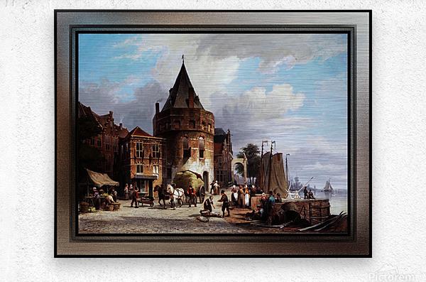 Schreierstoren by Willem Koekkoek Fine Art Old Masters Reproduction  Metal print