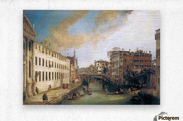 The River of Mendicanti by Canaletto  Metal print