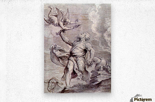 The sacrifice of Abraham by Rubens  Metal print