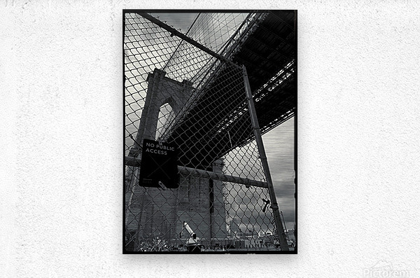 Do Not Enter  Metal print