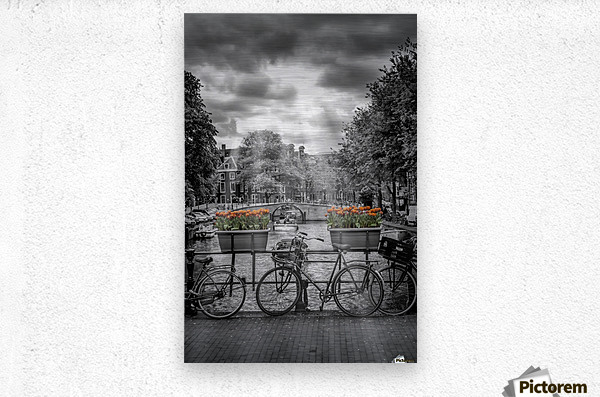 Gentlemens Canal AMSTERDAM  Metal print