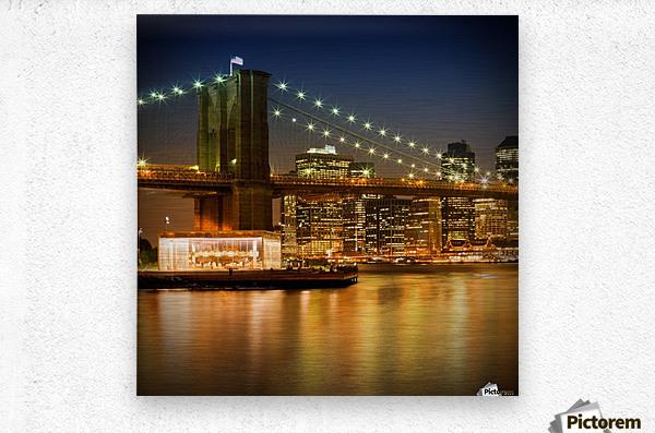 Night-Skylines NEW YORK CITY  Metal print