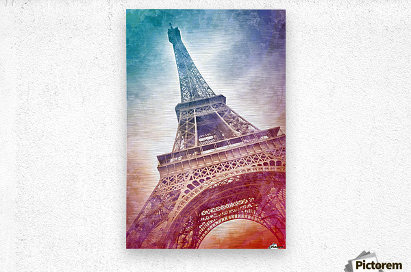 Modern-Art EIFFEL TOWER  Metal print