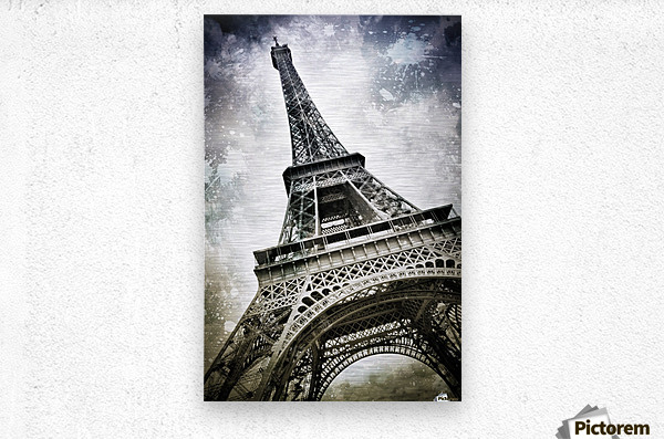 Modern-Art PARIS Eiffel Tower Splashes  Metal print