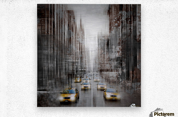 City-Art NYC 5th Avenue Traffic  Metal print