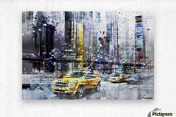 City-Art NYC Collage  Metal print