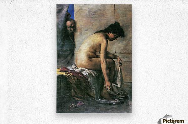 Susanna in Bath by Lovis Corinth  Metal print