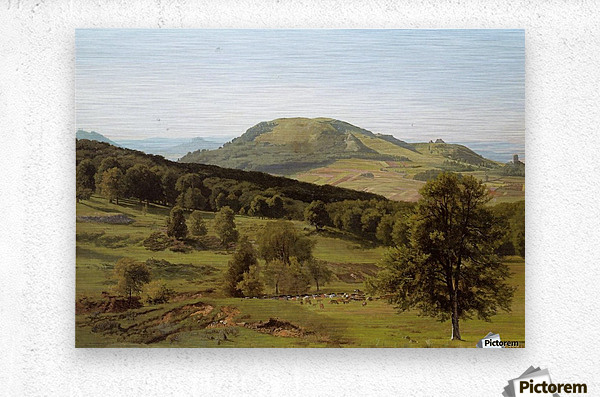 Landscape Hill and Dale  Metal print