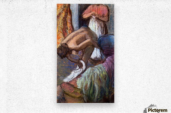 The strengthening after the bathwater by Degas  Metal print