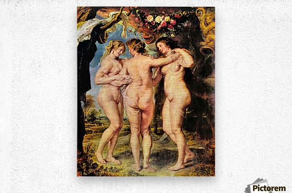 The Three Graces by Rubens  Metal print