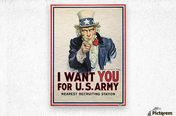I Want You, 1917  Metal print